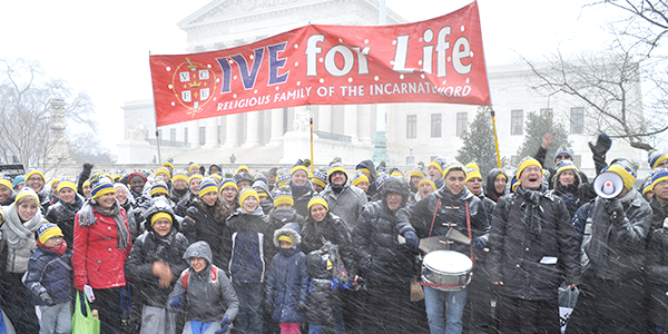 Institute of the Incarnate Word March for Life in Washington, DC