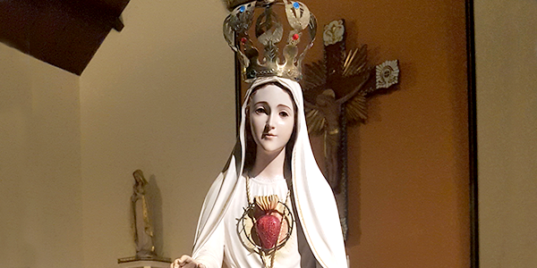 The IVE Province of the Immaculate Conception, in honor of the centenary of the Apparition of Our Lady of the Rosary to the little Fatima Shepherds, are having a State of Our Lady pilgrim through the different religious communities within the province